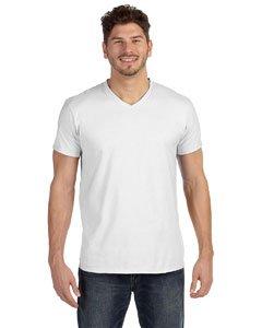 Men's Nano-T V-Neck T-Shirt XL White (White V-neck Hanes)