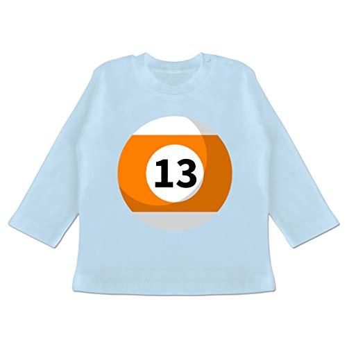 (Karneval und Fasching Baby - Billardkugel 13 Kostüm - 18-24 Monate - Babyblau - BZ11 - Baby T-Shirt Langarm)