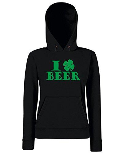 T-Shirtshock - Sweats a capuche Femme TIR0067 i clover beer tshirt (1) Noir