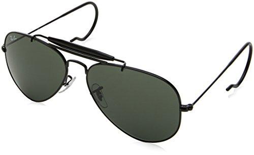 RAYBAN Unisex Sonnenbrille 0rb3030 L9500 58, Gestell: Schwarz, Gläser: Grün Klassisch, Large (Herstellergröße