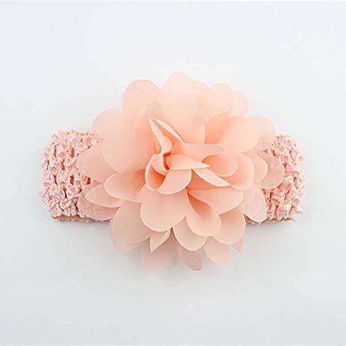 RENNICOCO Baby Mädchen Haarband Chiffon Blume Haarschmuck Spitze Band Neugeborene Kopfbedeckung rosa 1