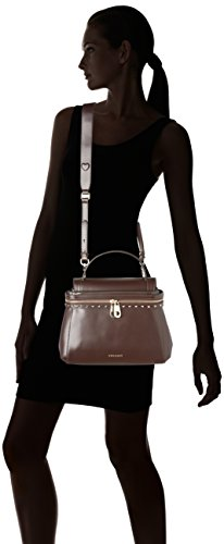 Twin Set Aa7pgn, Borsa a Tracolla Donna, Marrone (Dark Brown), 14x24x32 cm (W x H x L)