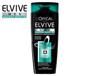 Elvive Men Arginina Resist X3 Shampoo Rinforzante 400 ml Capelli Fragili e Danneggiati