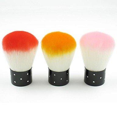 RY@ 1 pcs outils de visage nail art saupoudrage propre brosse maquillage blush en poudre fichiers de manucure (couleur assorties) , blushing pink