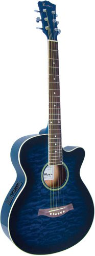 Blue Moon Music SC-TB/EQ - Guitarra electroacústica (madera), color azul