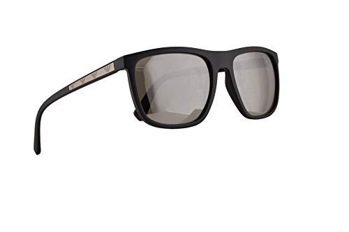 242f7cf7a4 Emporio Armani EA4124 Gafas De Sol Negro Matte Con Lentes De Reflejo  Plateado 57mm 50426G EA