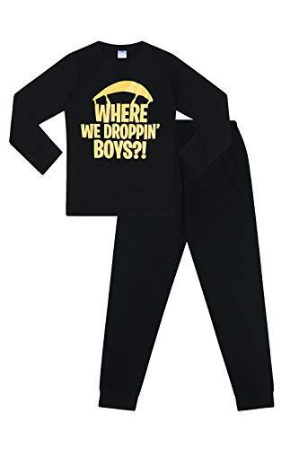 The Pyjama Factory - Pijama Dos Piezas - para niño Negro Negro (11-12 Años