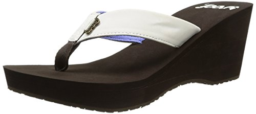 Reef Mid Skies, Tongs femme Marron (Brown/Cream)