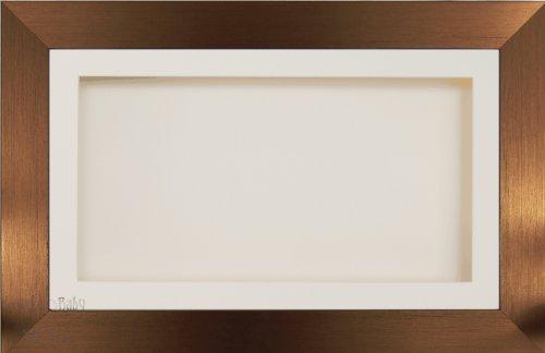 �x 33cm/33x 17,8cm Display Holzbox Rahmen in Bronze Effekt mit Cremefarbenes Passepartout und Rückseite, Glas-Front, 36,8x 21,6cm ()