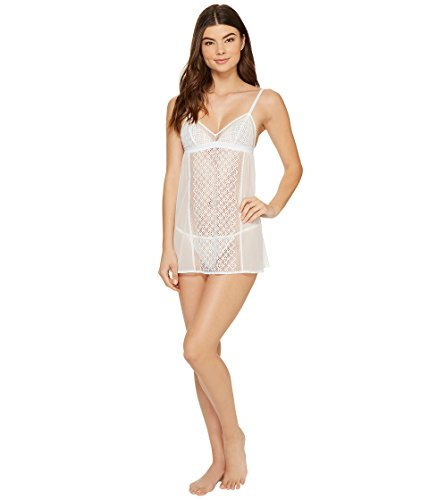 DKNY Women's Sheer Lace Chemise with G-String Panty (Panties Gefüttert Sheer)