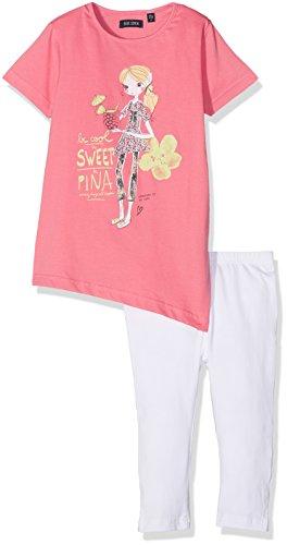 Blue Seven Mädchen kl Md Set: T-Shirt + Capri Bekleidungsset, Rosa (Azalee 415), 98 Rosa Capri-set