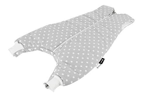Alvi Schlafsack mit Beinen/Alvi Baby-Schlafsack Sleep-Walker mit Füßen/Kinderschlafsack mit Tencel klimaregulierend / 100{989978c696b6d7f30bd3dad7eac14fa0414da7fbcbcbfb0591dcccd568aaa81f} aus nachwachsenden Rohstoffen, Größe:70, Design:Stars silber