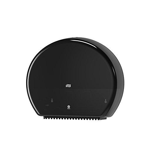 Tork 554008 Dispensador de papel higiénico Jumbo / Sistema T1 de papel higiénico Elevation / Negro