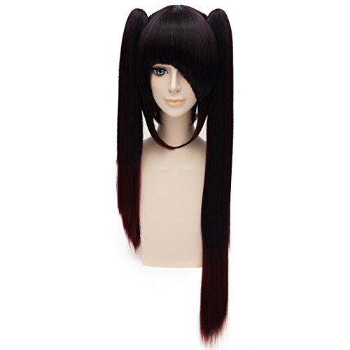 (EDAY Lange Glattes Haar Perücke Haarteil Cosplay Datum Eine Leben Tokisaki Kurumi Nightmare Kostüm)