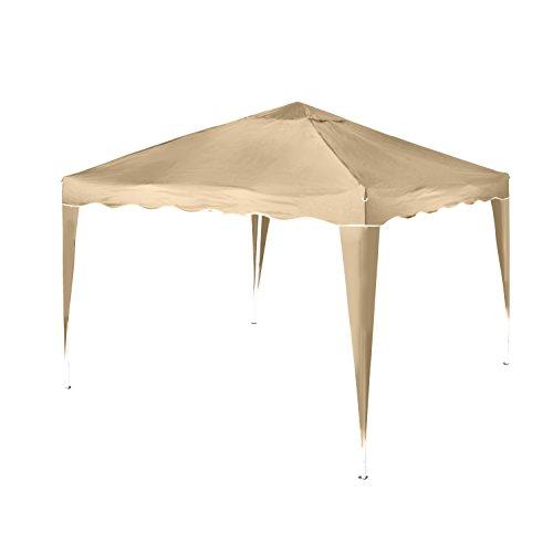 Vanage Pavillon Stella beige aus Aluminium ohne Seitenwände, 300x300x260cm, Faltpavillon einsetzbar...