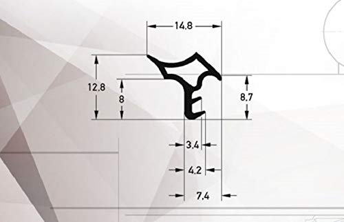 Türdichtung Stahlzargendichtung Z-501 Zargendichtung Tür Zimmertürdichtung