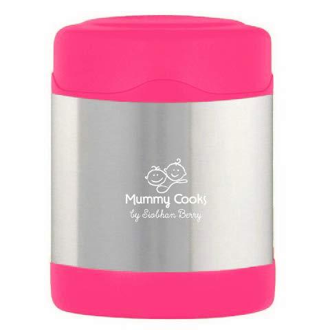 Mummy Cooks – Contenitore Termico per Alimenti (Lunch box) - Bambini - 300ml - Rosa - STICKERS OFFERTE