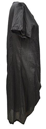 Bella Blue - Robe - Manches Courtes - Femme multicolore noir/bleu L/XL Gris