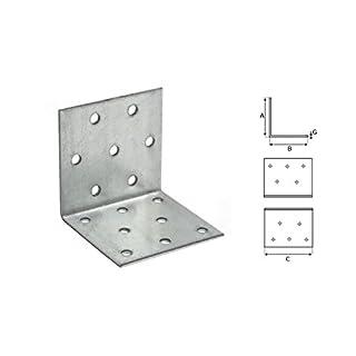 Stalco 50 x Winkel Winkelverbinder Bauwinkel Holzverbinder KP mit CE Zulassung (KP7 60x60x40)