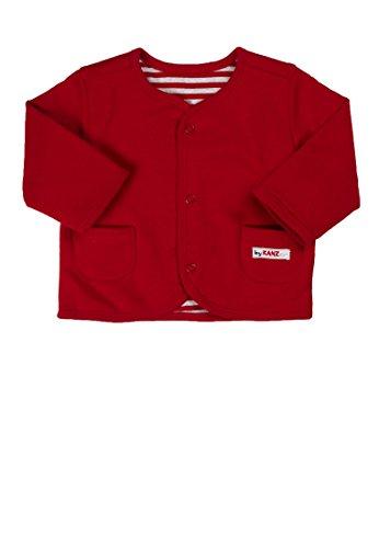 Kanz Unisex - Baby Jacke Sweatjacke 1/1 Arm 0003307, Einfarbig, Gr. 86, Rot (Tango Red Red 2016)