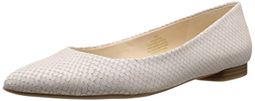 Nine West Onlee Leather Ballet Flat Off-White Leather