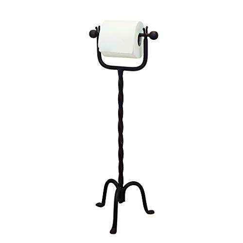 Dibor - French Style Accessories for the Home Vintage Love Birds Antik Braun Gusseisen Toilettenpapierhalter auf Ständer
