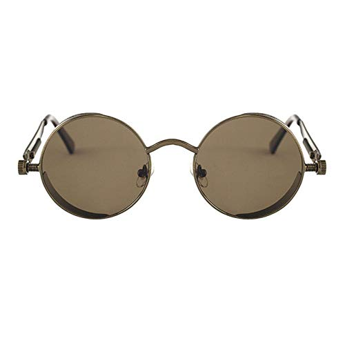 DOLLAYOU Herren Damen Runde quadratische Vintage verspiegelte Sonnenbrille Brillen Outdoor Sport Brille Gr. Einheitsgröße, D