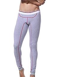 Marciay Mode Hiver Hommes Leggings Doux Long Confortable Chaud sous Pantalon  Vêtement Mode de Vie Pantalon b32b88816af