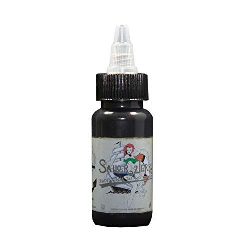 Sailor Jerry Tattoofarbe Liner Black (Liner Schwarz), 30 ml. Made in GERMANY! Mit Zertifikat! Tätowierfarbe, Tattoo Ink, Vertrieb durch HAN-SEN GmbH!