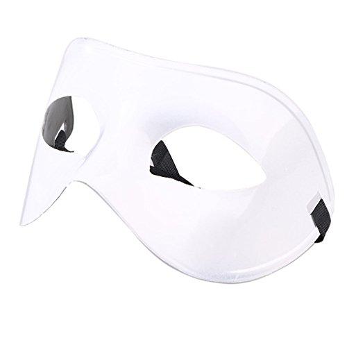 Blesiya Halbe Gesicht Maskerade Masken Halloween Party Kostüm - - Weiße Für Maskerade-masken Männer