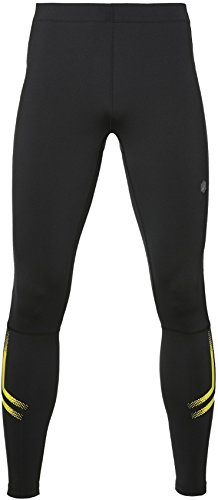 ASICS Herren Icon Tights, Performance Black/Sulphur Spring, M - Asics Athletic Tights