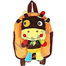 N&M Small School / Picnic Bag /Backpack with Detachable Toy - Brown
