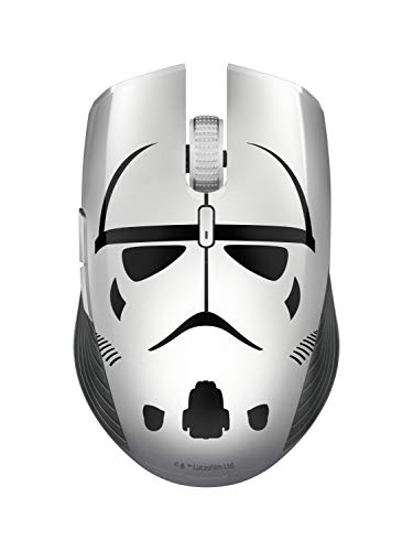 Razer Atheris Stormtrooper Edition - Ratón ergonómico de Dos Manos para Juegos, Uso Diario, 350 Horas de autonomía, 7.200 dpi, Sensor óptico, 2.4 GHz, tecnología de frecuencia adaptativa