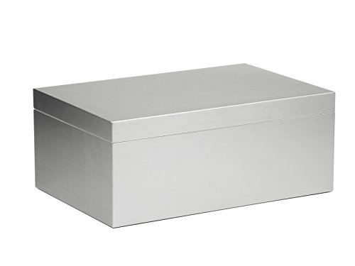 adorini Humidor Aluminium Deluxe L | Zigarren Aufbewahrung mit Aluminium Furnier