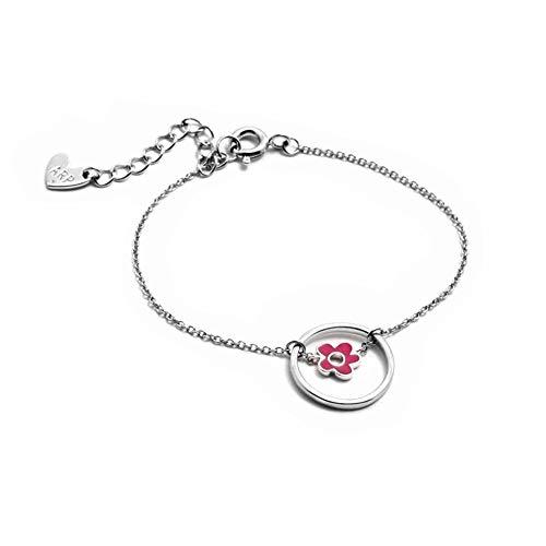 Silber Armband 925m Act Agatha Ruiz De La Prada 14cm. Aro Rosa Enameled Flower Collection