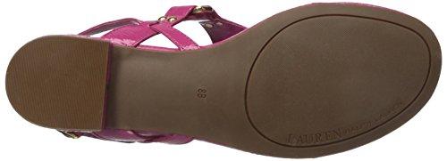 Lauren Ralph Lauren Valinda Thong Sandal Geranium Crinkle Soft Patent