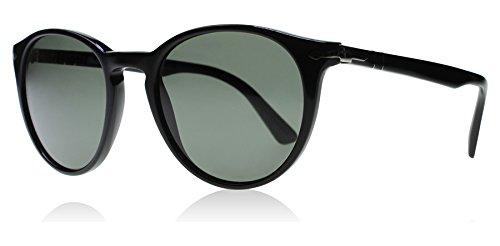 Persol Herren 0Po3152S 901458 52 Sonnenbrille, Schwarz (Black/Polargreen)