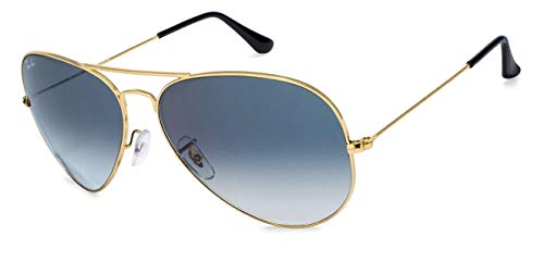 Ray-Ban Gradient Aviator Men's Sunglasses - (0RB3025I001/3F62|62|Crystal White Grad. Blue Color)