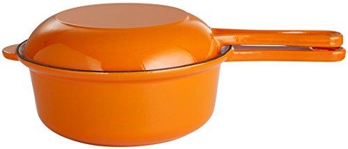 Gusseisenkuss Topf aus Gusseisen, Orange, Ø 22 cm