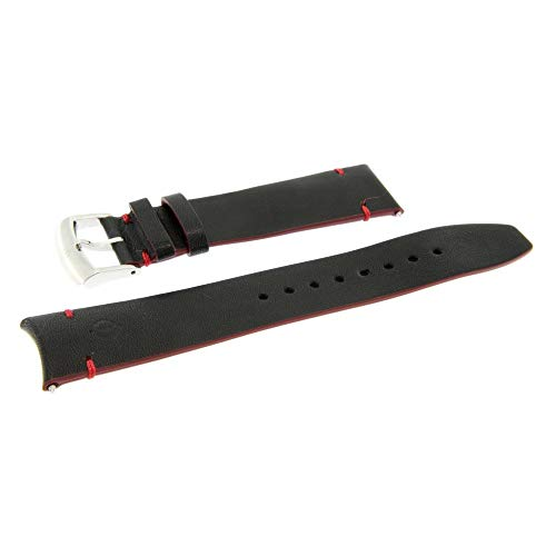 Armband Kalbsleder Clifton Club Indian Schwarz 20mm