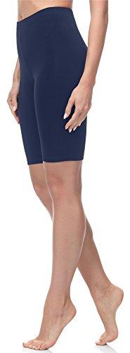 Merry Style Damen Kurze Leggings MS10-145 (Dunkelblau, S (Herstellergröße: 36))
