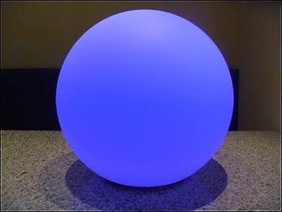 LED Kugelleuchte, 40 cm Durchmesser, sehr hell, mit 63 LEDs und Fernbedienung, Farbwechsler