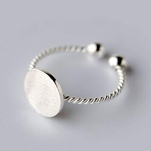 WYYDJZ Simple Style 925 Sterling Silber Twist Roped Plain Runde Zehenring Vintage Design Finger Zinn Einstellbare Ringe für Mädchen Plain Zinn