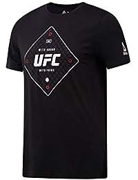 Reebok UFC FG Text tee Camiseta, Hombre, Negro, S