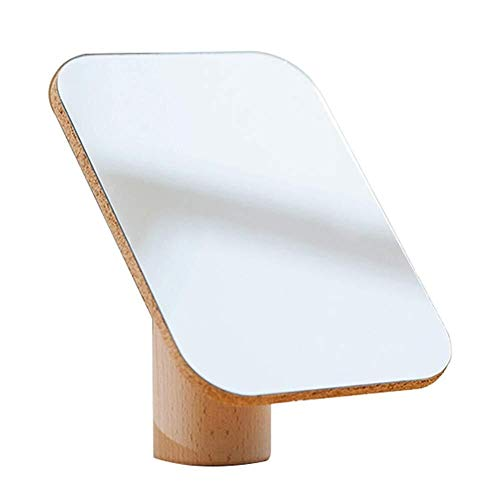 QZ Tabla Dresser Espejo Plegable Espejo de baño sintético de Madera Pad imán Super Atraer arbitraria...