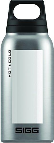 SIGG Hot & Cold Accent White, Vakuum-isolierte Thermo-Flasche aus Edelstahl, 0.3 L, BPA Frei, Weiss -