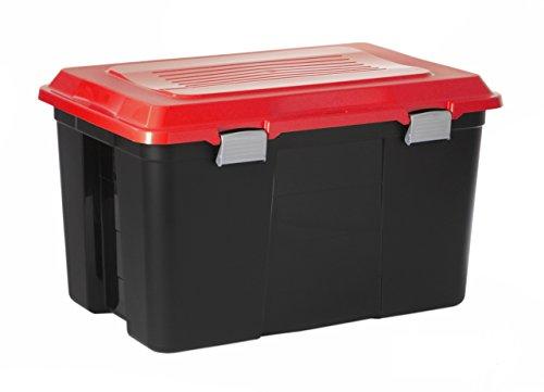 Sundis 1416702140 Jumbo-Aufbewahrungsbox Tanker, 100 L, 71,5 x 47 x 41,7 cm, schwarz / orange