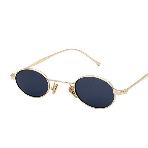 JunbosiKleine Schachtel Ocean Piece Sonnenbrillen Europa und die Vereinigten Staaten Persönlichkeit Metall Sonnenbrille Uv400 Multicolor Optional,D,OneSize