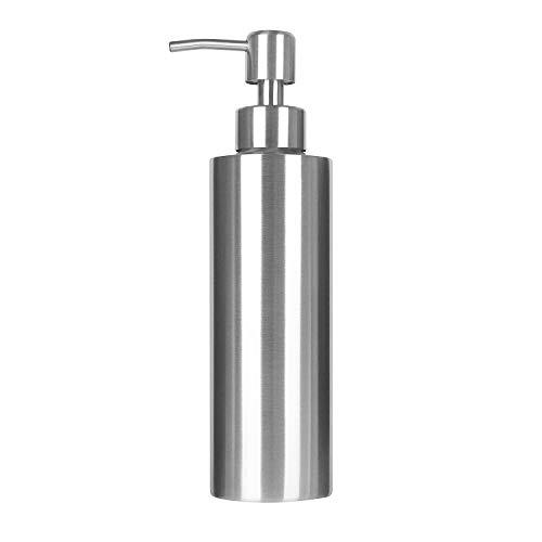 Dispensador de Jabón, ARKTEK Premium 304 Dispensador de Jabón Líquido de Acero Inoxidable para Cocinas y Baños (350 ml)