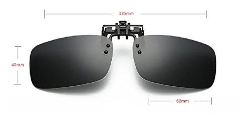 Embryform Polarized Clip-on Flip up Plastik Sonnenbrillen Linsen Gläser Outdoor Fahren Angeln Radfahren (Ophthalmische Linsen)